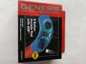 RETRO-BIT-OFFICIAL-SEGA-GENESIS-CONTROLLER-8-BUTTON-ARCADE-PAD-WITH-USB-NEW