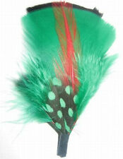 Black, Green & Red - Hat Band Feather Hatband Feathers - Classic Fedora Trim