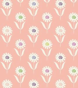 DAISIES-ON-WARM-PINK-BY-LEWIS-IRENE-COTTON-FABRIC-FQ