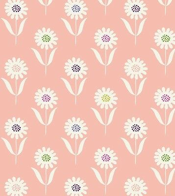 WHITE DAISIES ON PINK BY LEWIS /& IRENE COTTON FABRIC FQ/'S