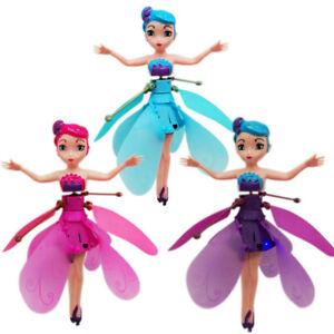 Nuevo-Princesa-Munecas-Hada-Voladora-Magic-con-control-de-induccion-Juguete-Regalo-De-Navidad
