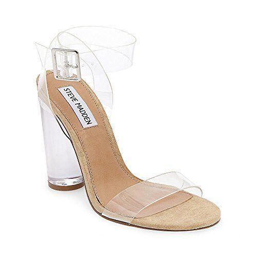 9abb5311ff6 Steve Madden Women s Clearer Heeled Sandal Clear 7 M US for sale online