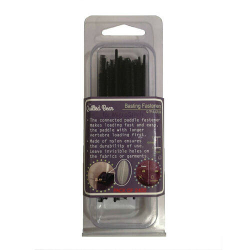 Quilted Bear Premium Microstitch Fastener Tack Refill Pack of 2400 Black