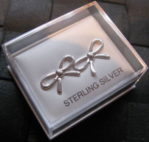 Gift Boxed 925 Silver Bow Stud Earrings 16mm x 10mm