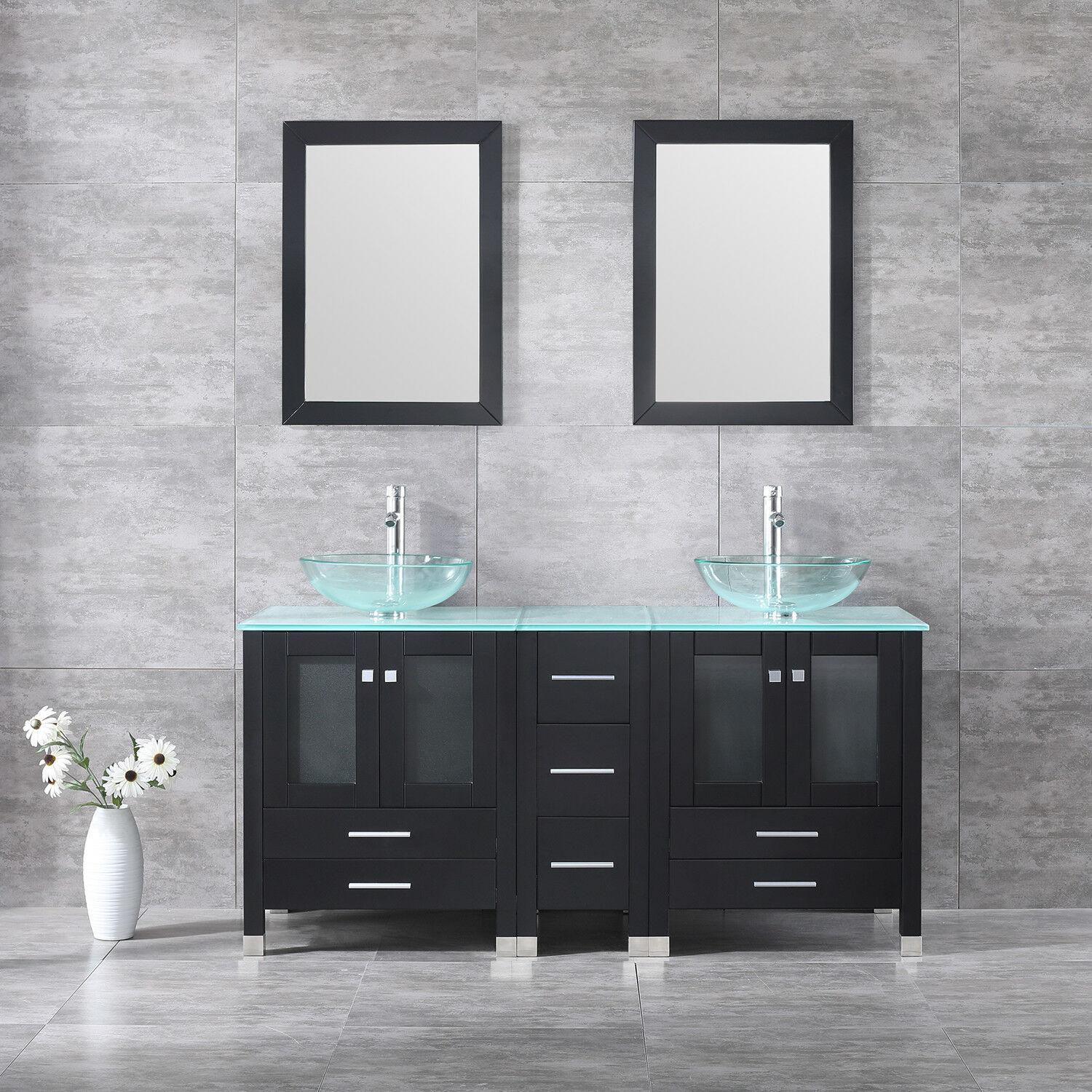 60 Wide Bathroom Vanity Cabinet