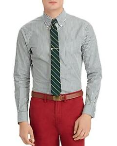 Ralph Lauren GREEN STRIPED POLO SHIRT CLASSIC NWT XL