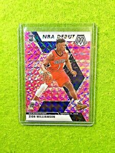 ZION-WILLIAMSON-MOSAIC-PINK-PRIZM-ROOKIE-CARD-RC-2019-20-Panini-Mosaic-PELICANS
