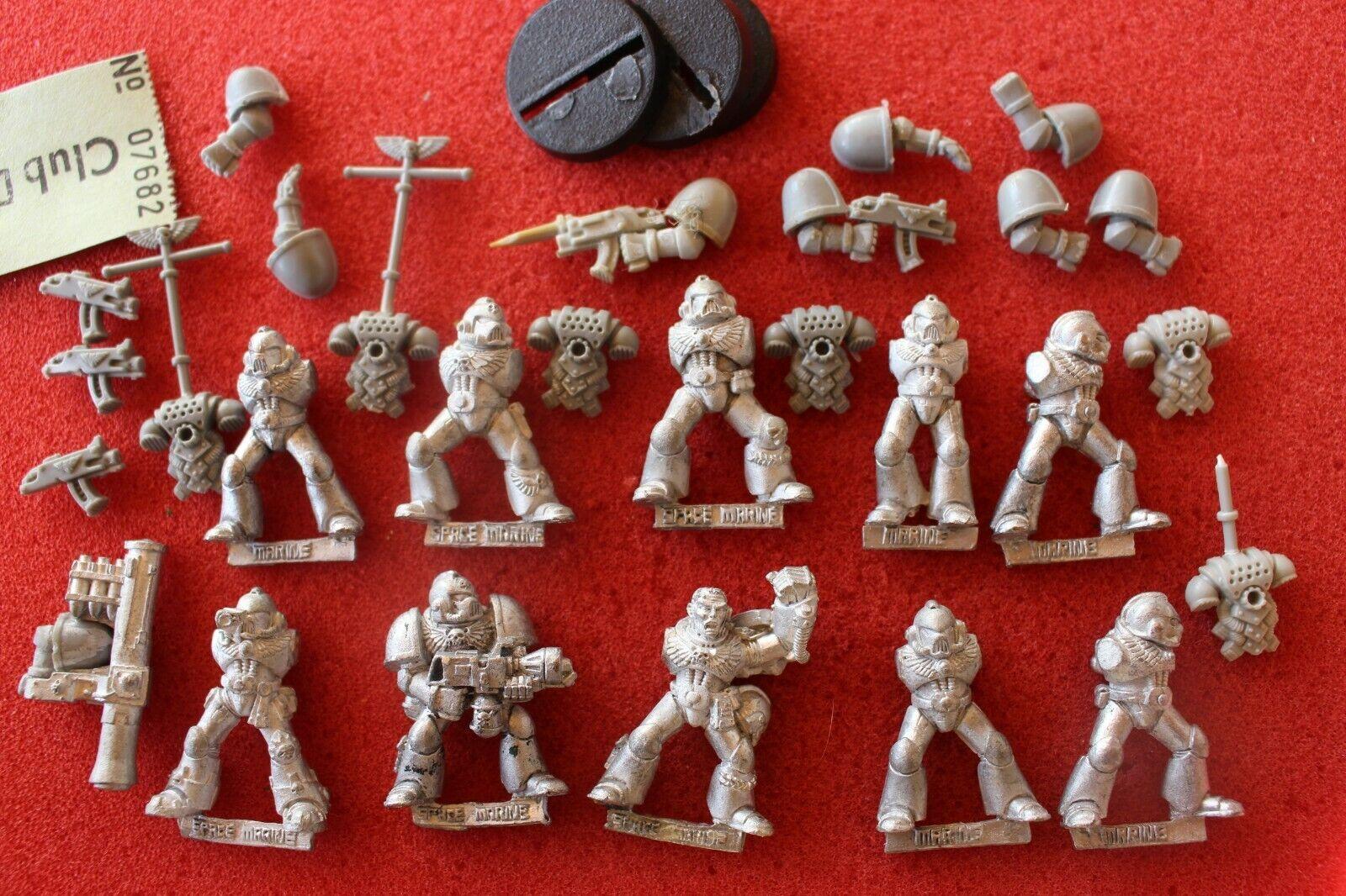 Warhammer 40k space marines Tactical Squad avec le sergent en métal WH40K Épuisé 1990 S