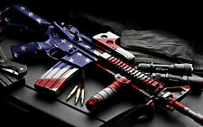 "Guns American Flag Don't Tread On Me (11) New 24"" x 36"" poster USA Seller"