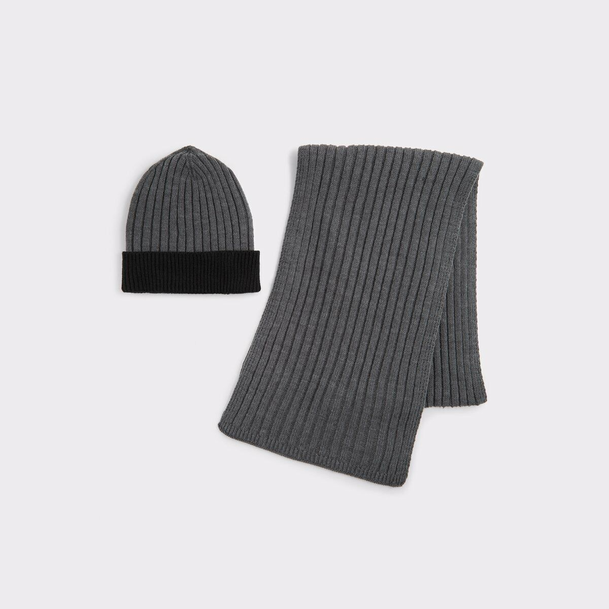 ALDO ASESIEN - Men's Scarf & Hat Set - Grey - Brand New With Tags