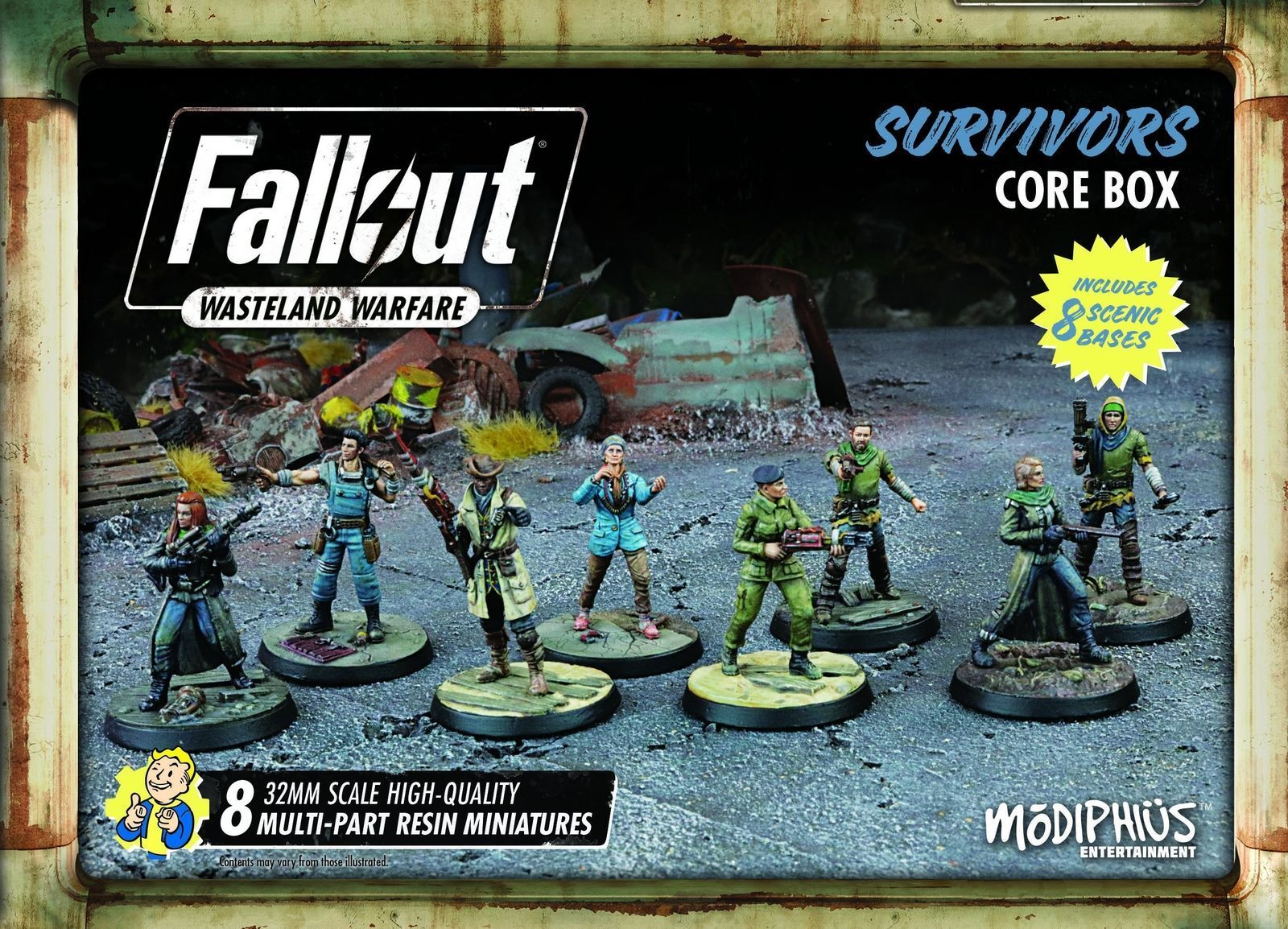 Fallout Wasteland Warfare Survivors Core Faction Box Miniatures Modiphius