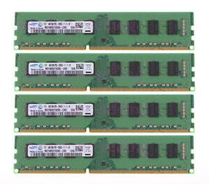 Samsung 16GB//8GB//4GB PC3-12800U 2Rx8 DDR3 1600Mhz 240Pin Memory Desktop RAM Lot
