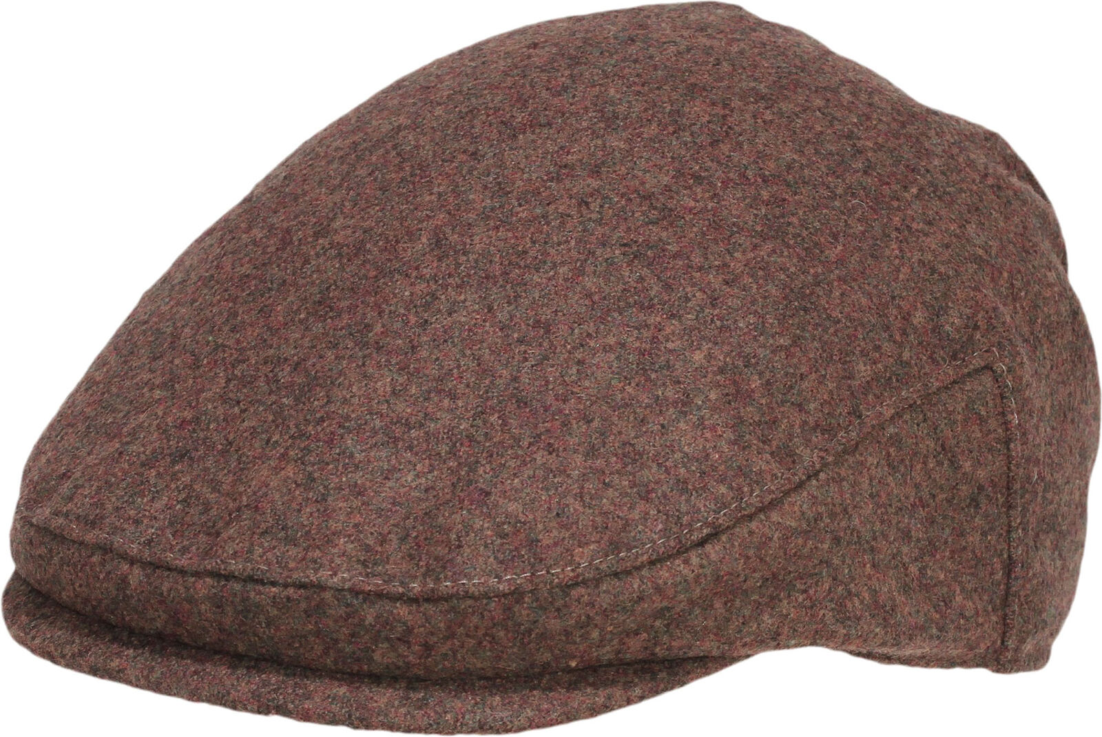 Retro FILZ Wool Vintage FLAT CAP Hat Classic SCHIEBERMÜTZE Braun Rockabilly