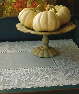 """PLACEMAT SONATA IN WHITE - KITCHEN DINING - BY HERITAGE LACE 14"""" x 20"""""""