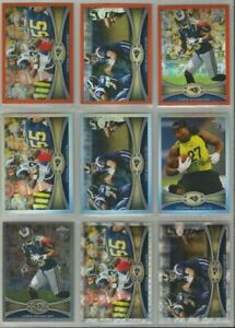 St-Louis-Rams-9-card-2012-Topps-Chrome-REFRACTORS-amp-XFRACTORS-lot-all-different