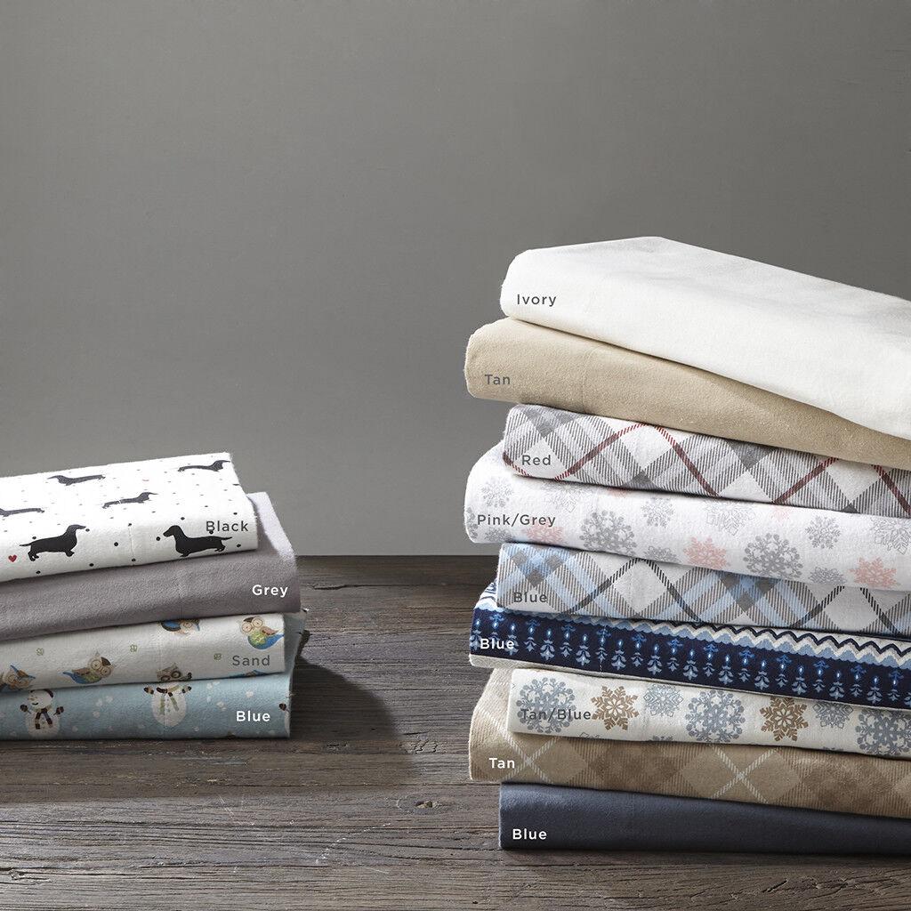 True North by Sleep Philosophy Owl Flannel Sheet Set