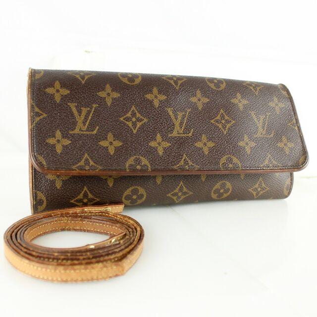 LOUIS VUITTON POCHETTE TWIN GM Shoulder Bag Pouch Monogram M51852 JUNK