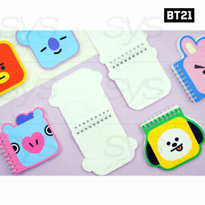 BTS BT21 Official Authentic Goods Mini Note 7Characters By Kumhong Fancy