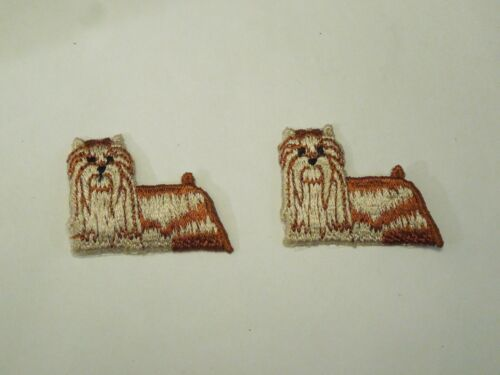 Lot of 2 Yorkshire Terrier Dog AKC Breed Puppy Embroidered Iron On Patches