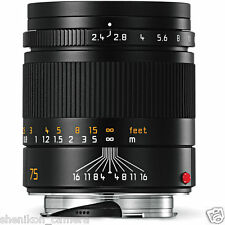 100% New Unused Leica SUMMARIT-M 75mm F2.4 Black 6-Bit M 240 M9 M8.2 E 11682