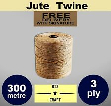 AU 10-240m Natural Jute TWINE String Cord Scrapbooking Wedding Gift Wrap Tags