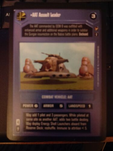 Star Wars CCG Theed Palace AAT Assault Leader NrMint-MINT SWCCG