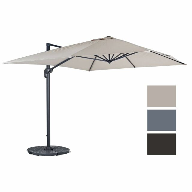 Wooden Parasol Taupe Outdoor Patio