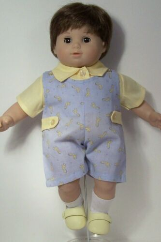 BLUE Giraffe Romper YELLOW Shirt Doll Clothes For Bitty Baby Boy (Debs)