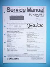 Service Manual-Istruzioni per Technics su-a600 mk3, ORIGINALE