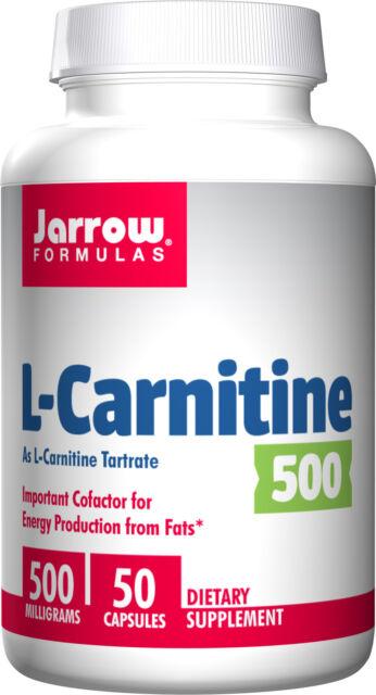 Jarrow Formulas L-Carnitine 500 mg 50 Capsules