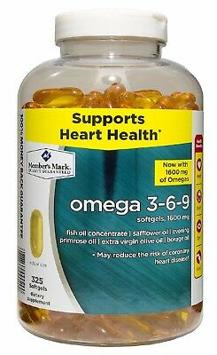 Member S Mark Omega 3 6 9 Dietary Supplement 325 Ct Free