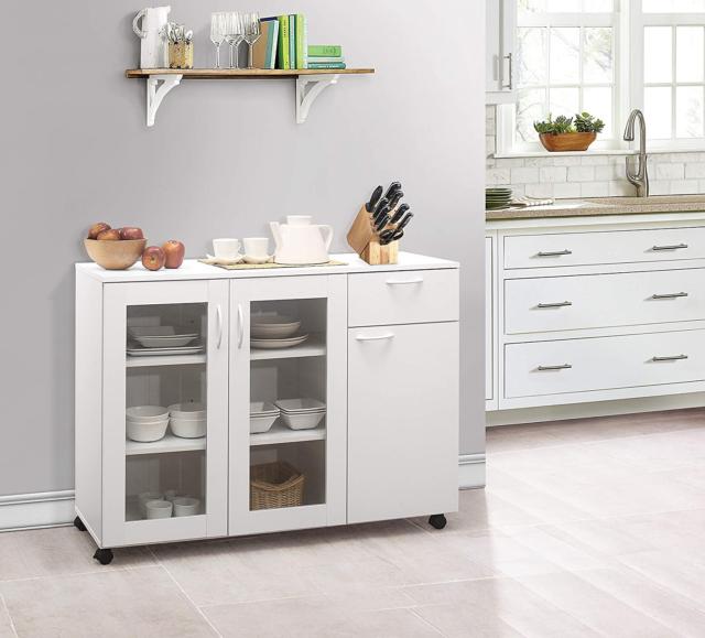 Buffet Server Sideboard Kitchen Storage, Kings Brand Furniture