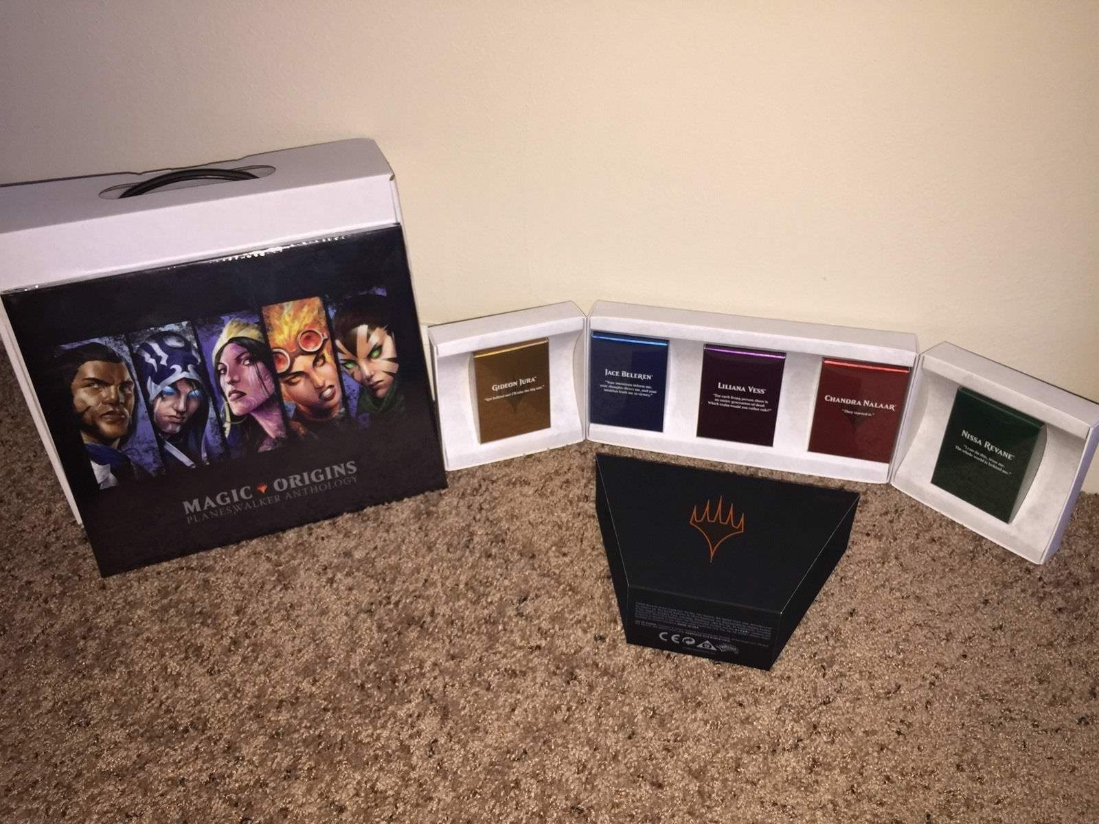 SDCC MTG 2015 Magic Origins Planeswalker Anthology Sealed Book Box NO CARD IN IT
