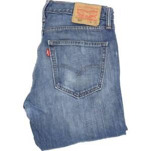 Levi-039-s-527-Herren-Blau-Bootcut-Regular-Jeans-w32-l32-46027