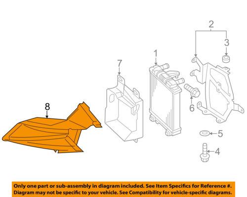 AUDI OEM 15-17 A8 Quattro 3.0L-V6 Radiator-Air Duct 4H0117335D