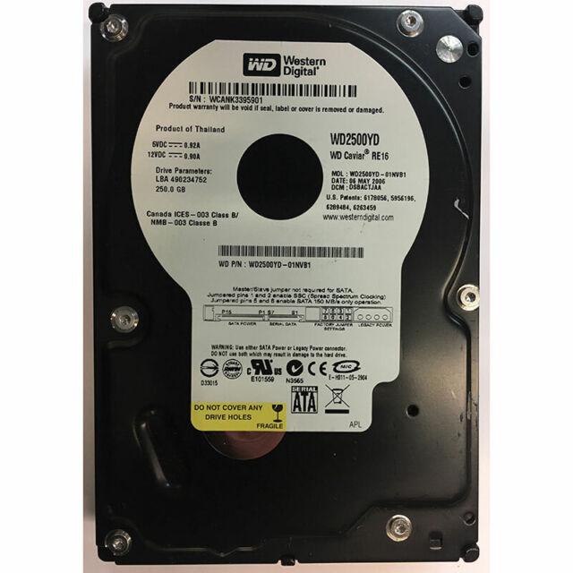 Western Digital 250GB, 7200RPM, SATA - WD2500YD-01NVB1