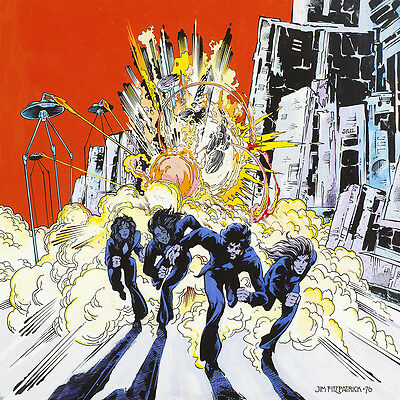 "Philip Lynott Fatalistic Attitudes 16/""x11/"" print By Jim Fitzpatrick Thin Lizzy"