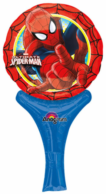 Spiderman Inflate-A-Fun Balloon Boy Birthday Party Supplies Treat Loot