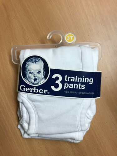 Boy/'s 3 Pack Of Gerber Training Pants White Size 3T New In Package