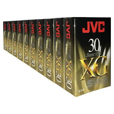 10 X Jvc Xg 30 Minutos Super Vhs-c Svhs-c Videocámara Compacta Cinta De Vídeo Cassette