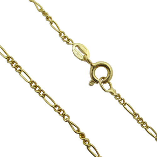 Necklace Chain Figaro mm 1,8 cm 50 Silver Yellow Gold Plated 925