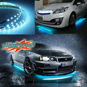 Attractive Image Is Loading 4pcs 8K ICE BLUE LED Strip Under Car