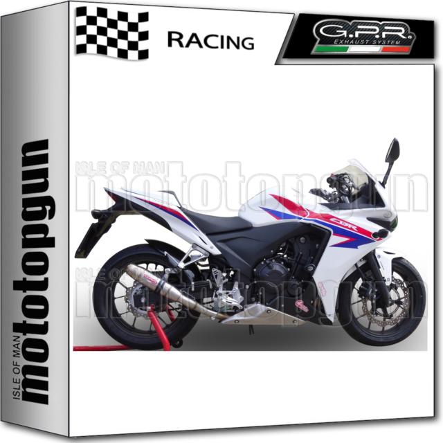 GPR FULL SYSTEM EXHAUST RACE DEEPTONE STAINLESS STEEL HONDA CBR 500 R 2016 16