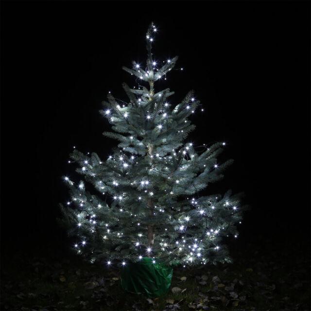 Lichterkette Weihnachtsbaum Außen.Led Lichterkette Clgarden Ledlk400 Kalt Weiss Weihnachtsbaum Innen Aussen 40m