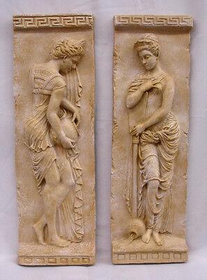 Danaides Argos Greek Wall Home Decor Plaque Pair Cameo