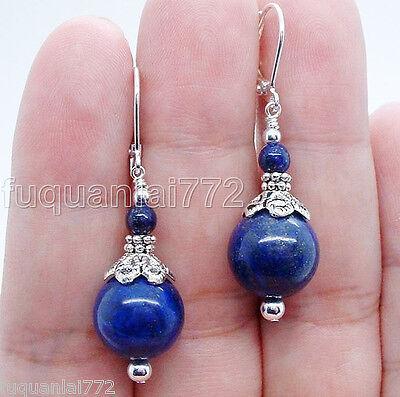 Handmade Bold Blue Lapis Lazuli Sterling Silver Earrings