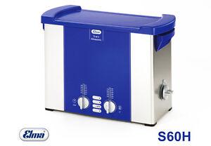Elmasonic S60 H Ultraschallreiniger Mit Heizung 5,75 Ltr Ultraschallbad Von Elma Professionelles Design