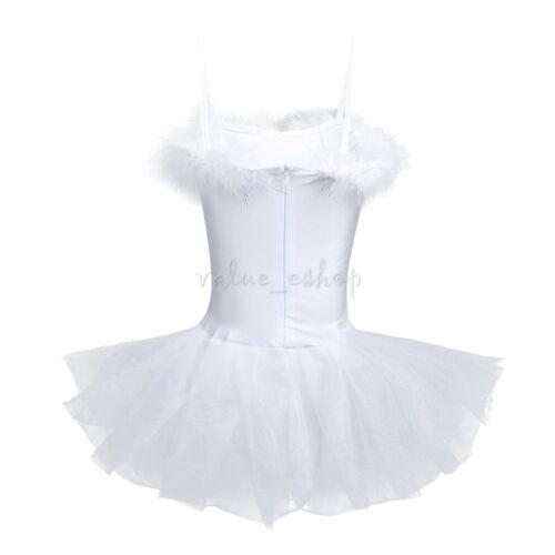 Kids Girls Ballet Dance Dress Ballerina Dancewear Tutu Skirt Gymnastic Costume