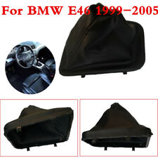 1 Pcs Black PU Leather Gear shift knob Boot Dust Cover For BMW E46 1999-2005