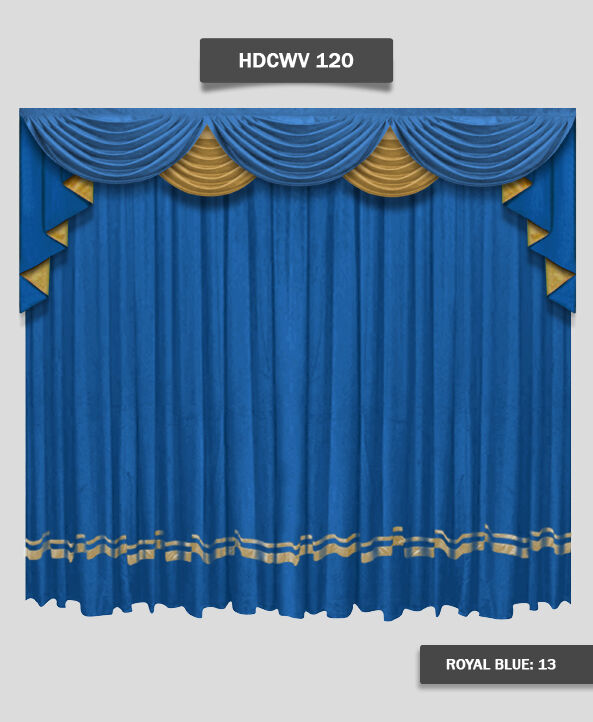 Saaria HDCWV-120 Home Theater Stage Movie Screen Decor Curtain Drapes 16'W x 8'H